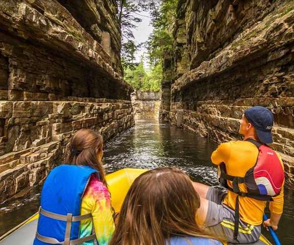 people paddling at Ausable Chasm