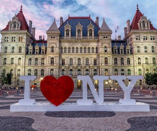 I Love NY sign in Albany, NY