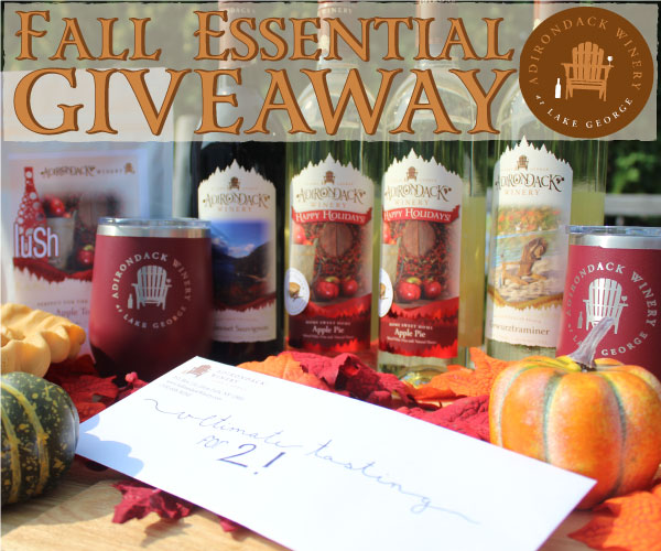 bottles of wine with text that says fall essentials giveaway