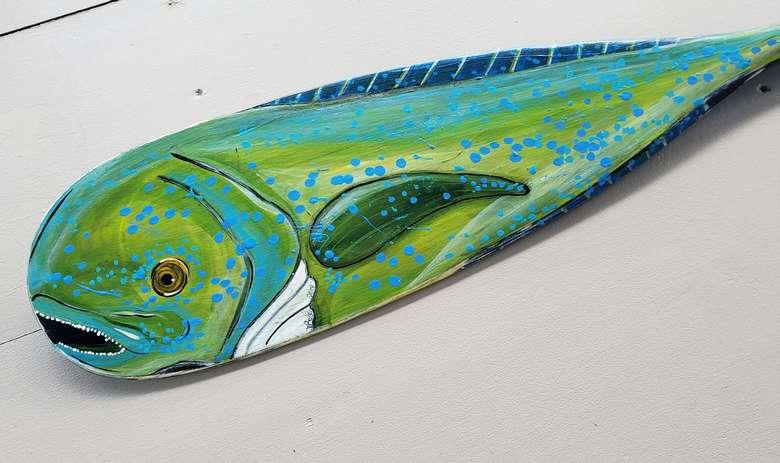 fish wood piece