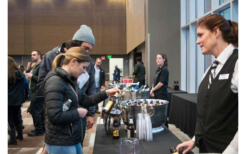 attendees at the northeast ski and craft beer showcase