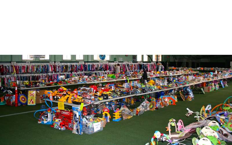 tons of kids stuff at the sale