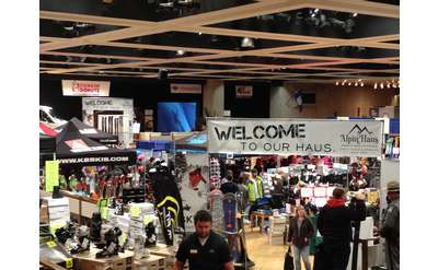 inside the expo with vendor booths