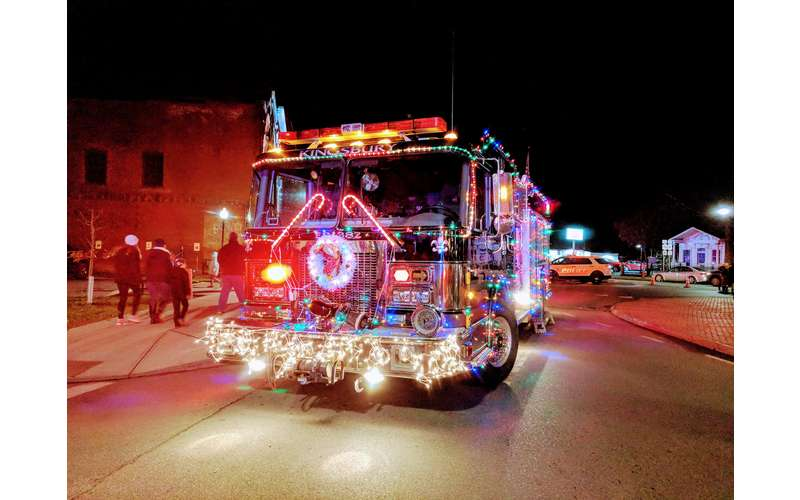 decorated fire truck