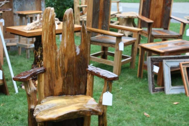Rustic Furniture Street Fair Friday, Adirondack Rustic Furniture