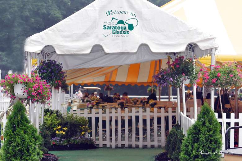 tent at the saratoga classic horse show