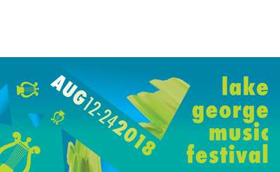 "teal banner with ""lake george music festival"" and ""aug 12-24 2018"""