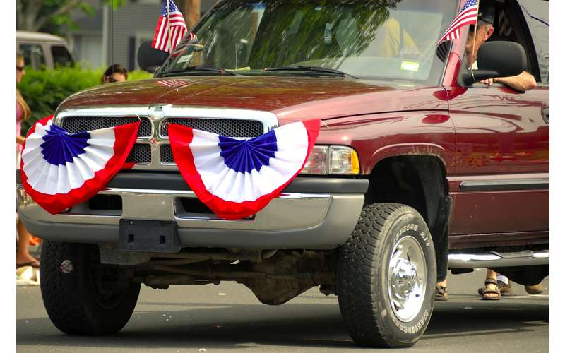 decorated car