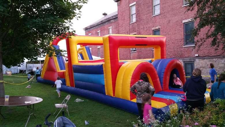 a bounce house