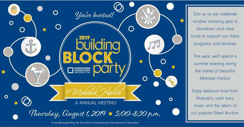 building block party event promo