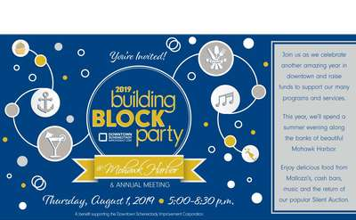 building block party event promo