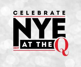 Logo for New Year's Eve Celebration at The Q