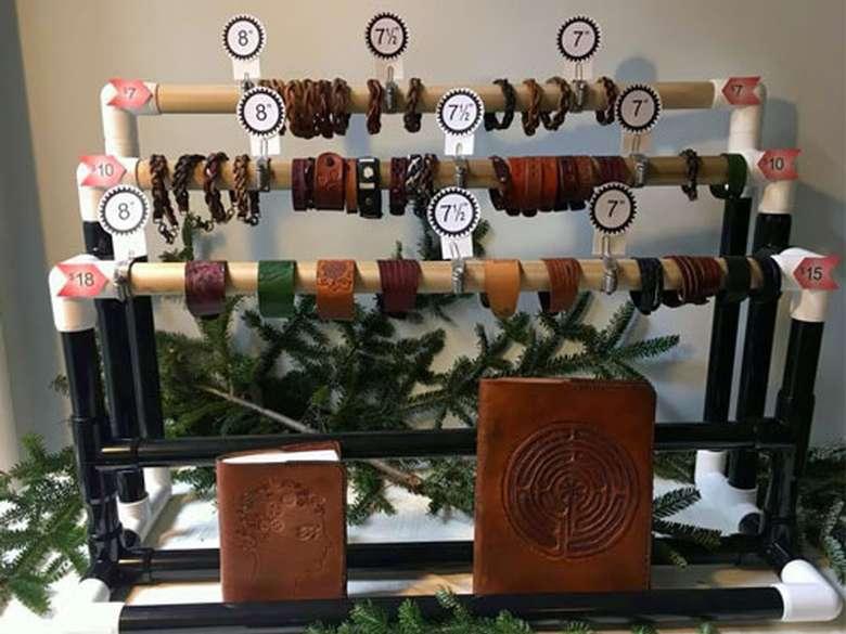crafts/jewelry on display
