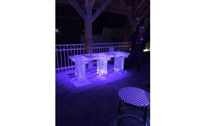 ice bar at the mill on round lake