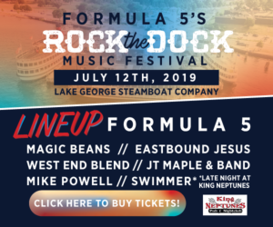 rock the dock graphic with dates and details