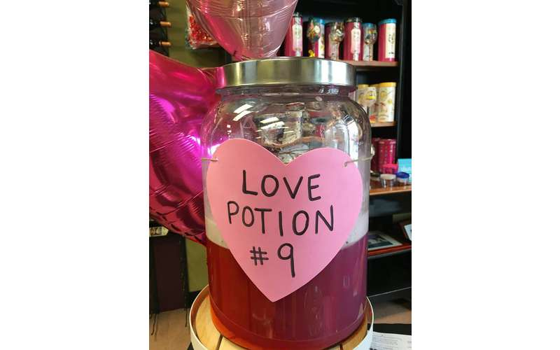Free samples of our Love Potion No. 9 wine cocktail for everyone who enters!