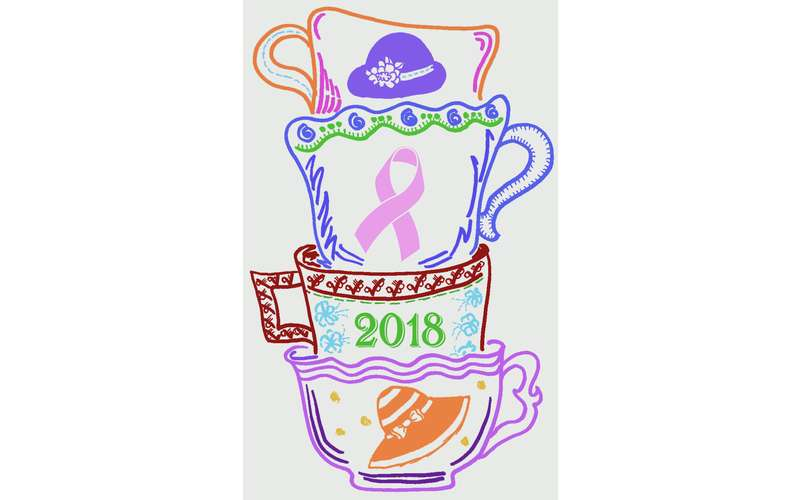 a logo of a tea cup and 2018