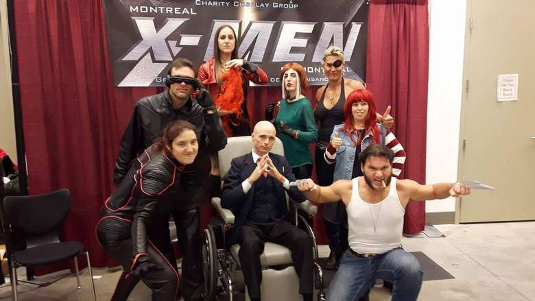 people dressed up as x men characters