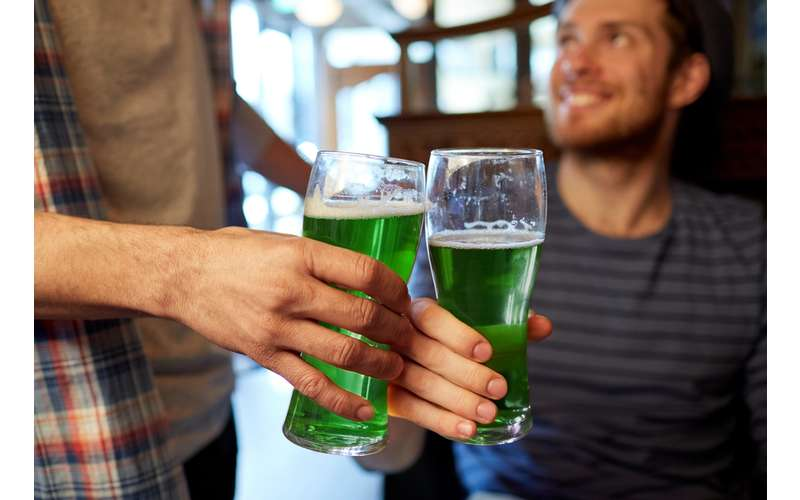 green beer in glasses
