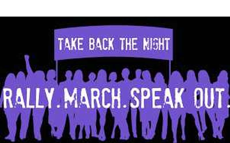 take back the night event poster