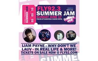 fly92.3 summer jam poster