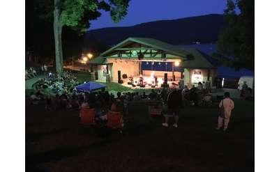 shepard park amphitheater at night