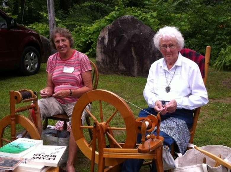 2 women doing crafts