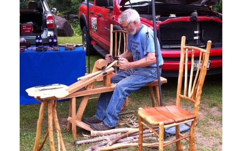 a man doing wood work
