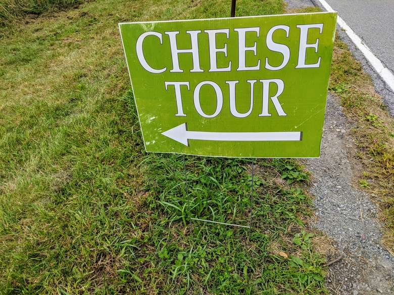 Cheese Tour sign