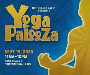 event poster advertising yogapalooza