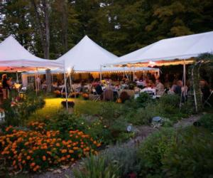outdoor event under tents