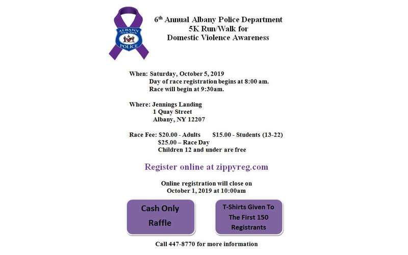 Flyer for 6th Annual APD 5K Run/Walk for DV Awareness
