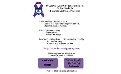 Flyer for 6th Annual APD 5K Run/Walk for DV Awareness