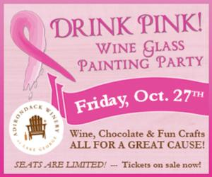 Drink Pink! Wine Glass Painting Party