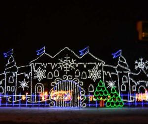 a palace of holiday lights