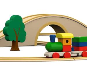 image of a toy train