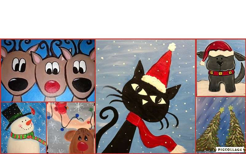 Open Art Studio *Holiday Painting Special $12! (1)