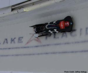 a bobsled in lake placid