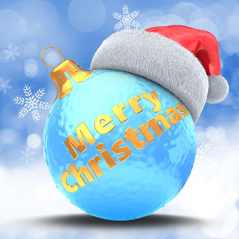 a merry christmas ornament
