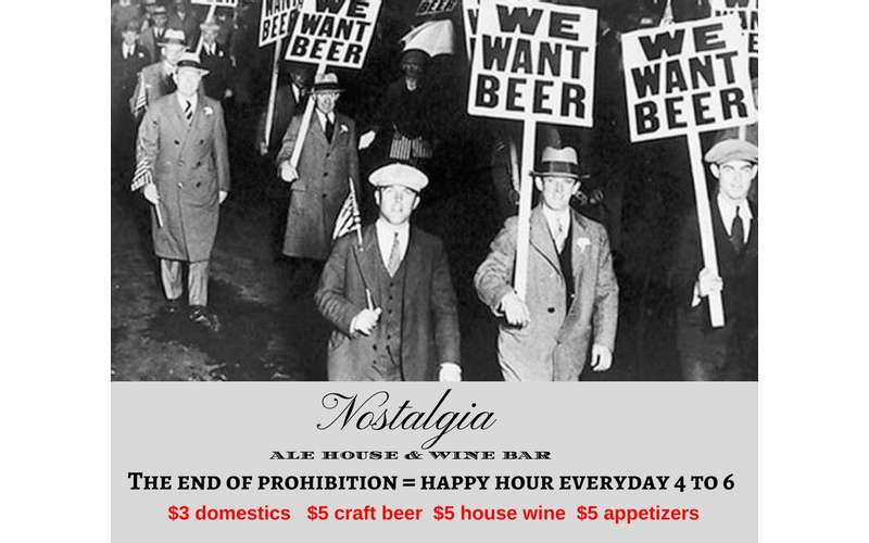 Prohibition Sign for Happy Hour