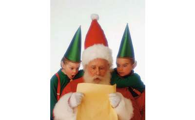 santa and two elves