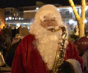 Santa playing the sax