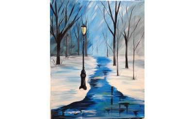 Icy Path Paint & Sip