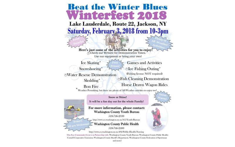 Winterfest 2018 in jackson ny saturday feb 3 2018 for Nys fishing license cost