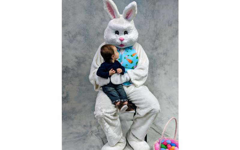 toddler with Easter Bunny