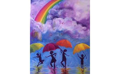 It's Raining Love Paint & Sip