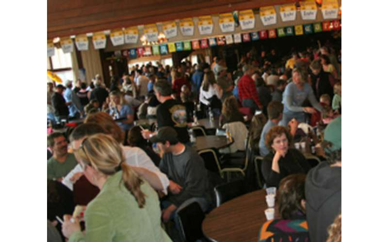 bands n beans crowd of people