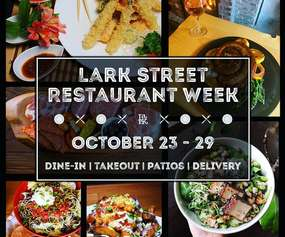 lark street restaurant week event promo