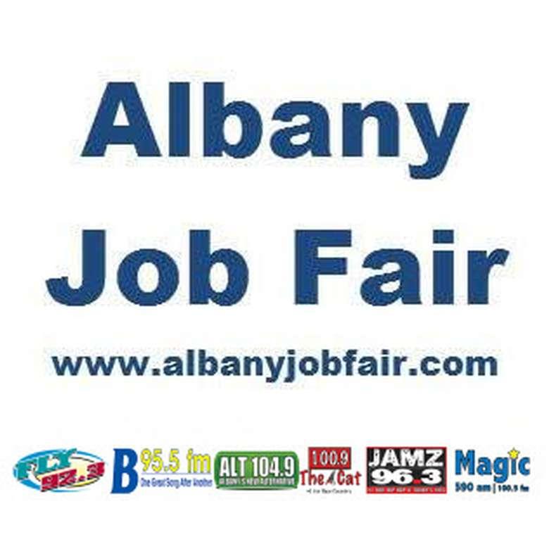 albany job fair logo with sponsors