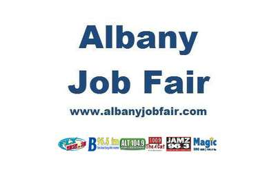 albany job fair logo with sponsors